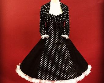 Black Petticoat Confirmation Dress