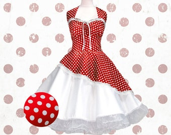Black petticoat rockabilly 50s fashion red