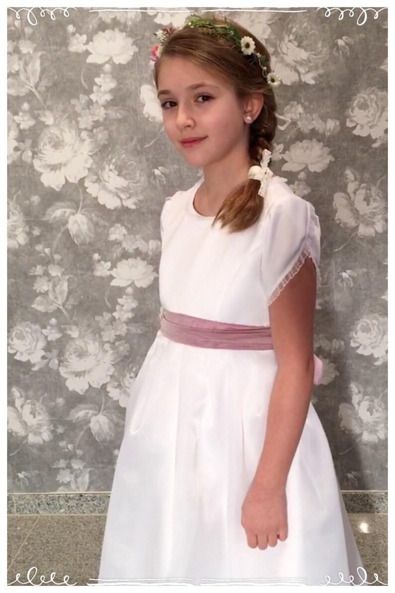 Kommunionkleid Kommunion Kleid weiß lang edel   Etsy
