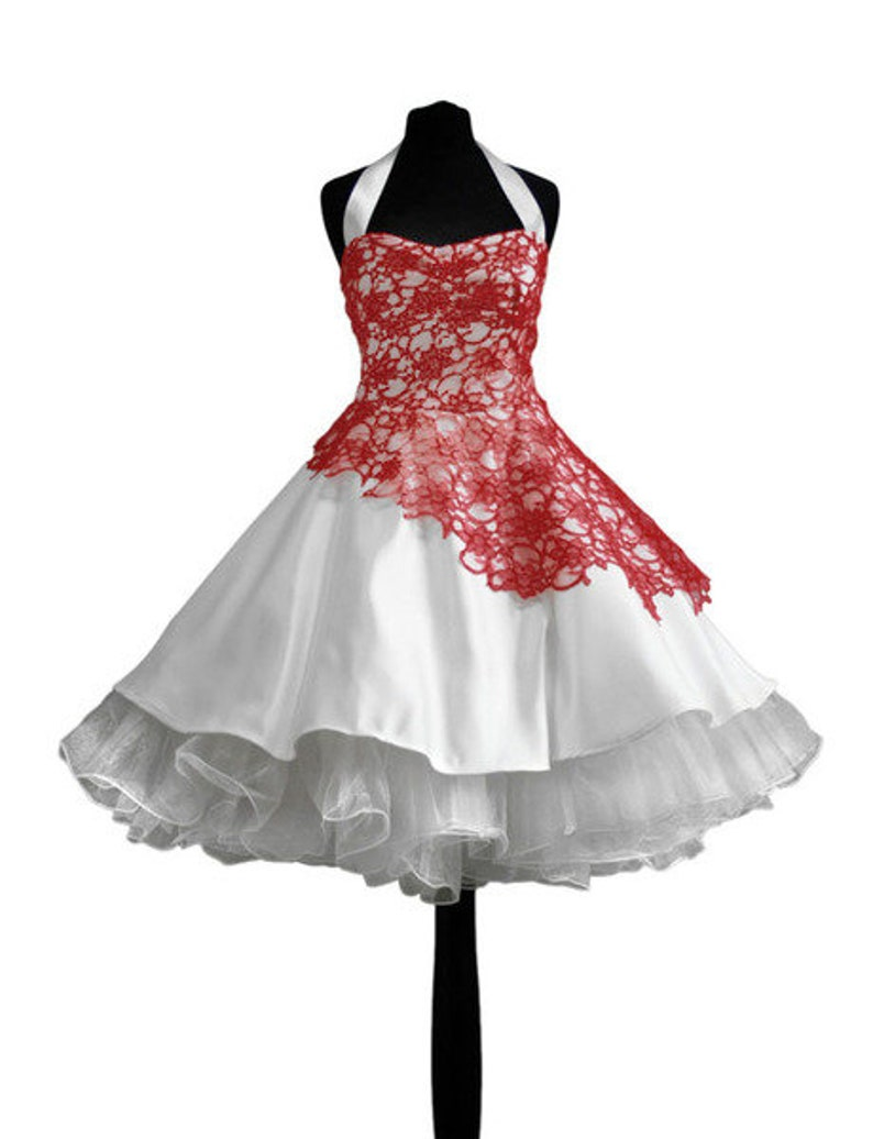 ba3525878d01fe Brautkleid Petticoatkleid beeren rot Hochzeitsklei   Etsy