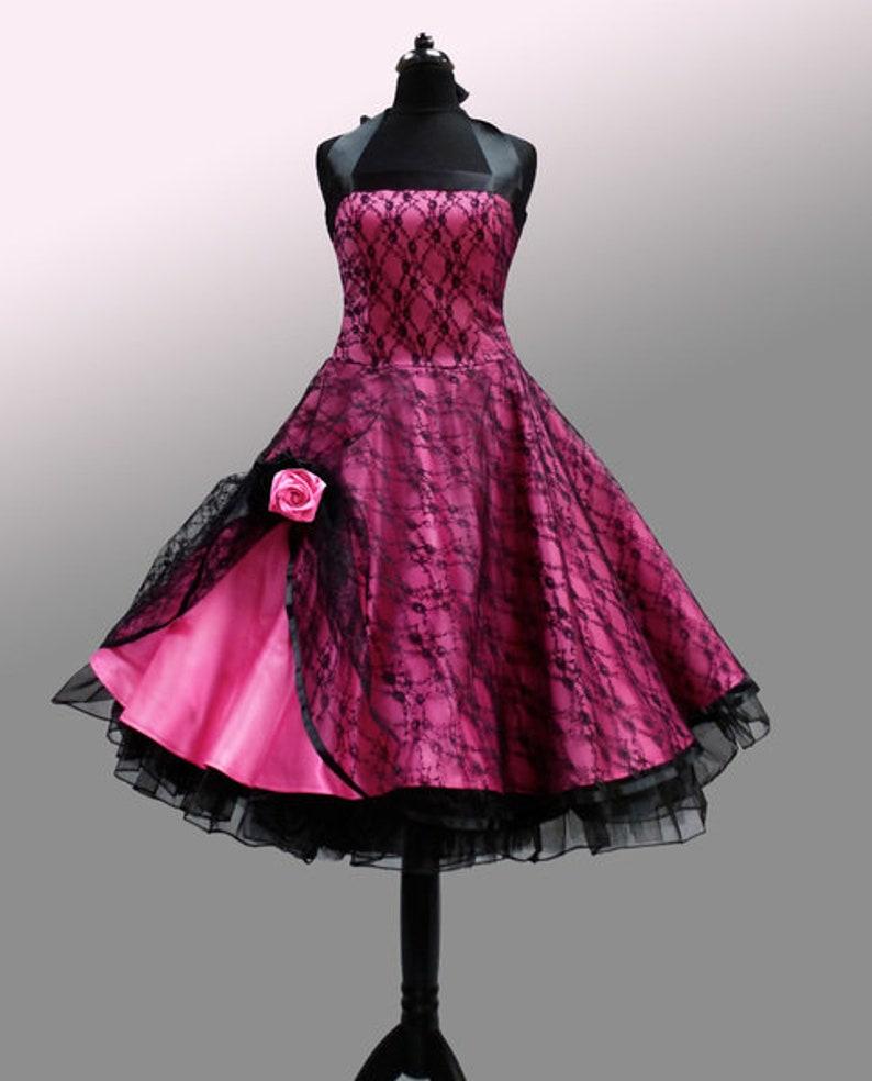 d025c96712fe92 Romantisches Petticoat-Kleid im Stil der 50er | Etsy