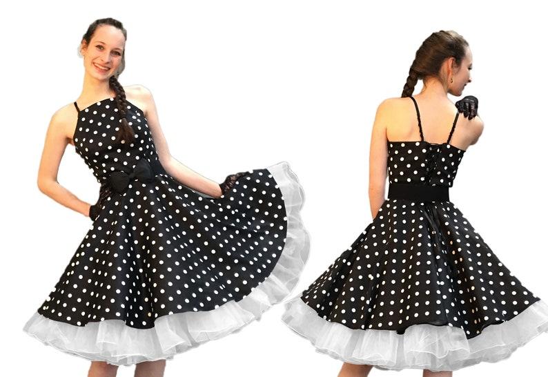 50er Punkte Jahre Petticoatkleid Mode Rockabilly vnOmN8w0