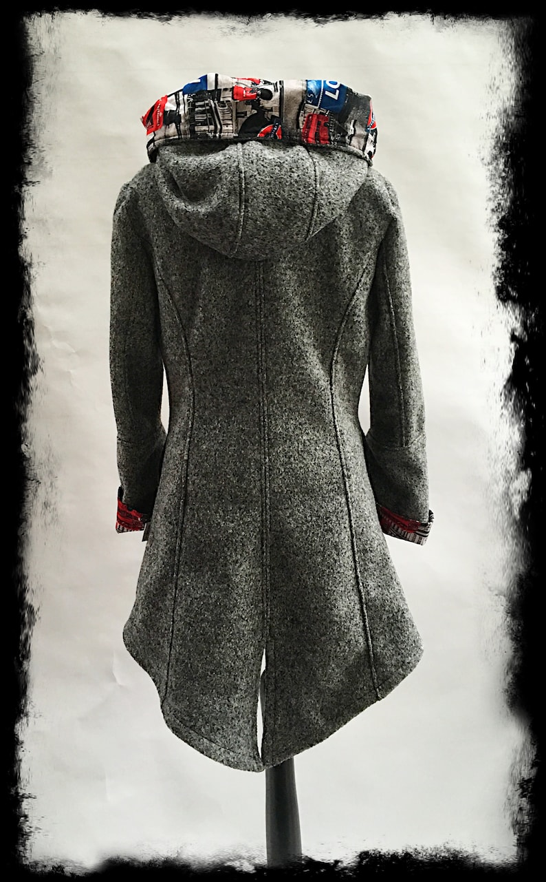 Parker style coat must have made to measure!