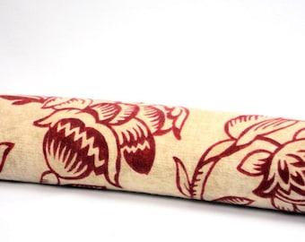 Draft Stopper,  Breeze Blocker, Door Snake, Window Draft Stopper, Warm Sand Paprika Floral,  Energy Saver, Gift by WhiteCross Designs