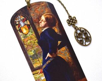 Bookmark with Bronze Pendant - Painting - Pre-Raphaelite - Millais - Handmade