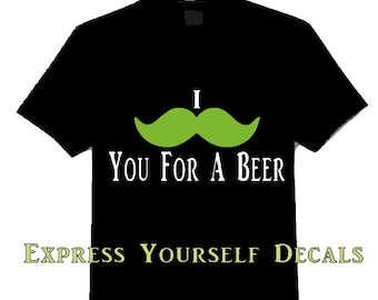 I Mustache You for a Beer Saint Pattys Day Shirt