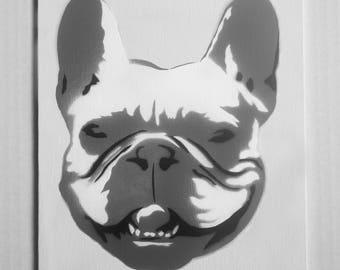"French Bulldog Portrait Spray Painting, 8""x10"" Canvas Panel"