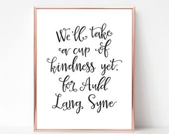 picture about Auld Lang Syne Lyrics Printable called Fresh new many years music Etsy