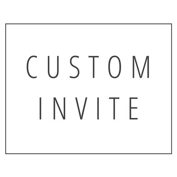 Custom Invitation Design Birthday Invite Bridal Shower Etsy