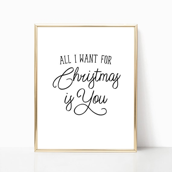 all i want for christmas is you print christmas song - All I Want For Christmas Song