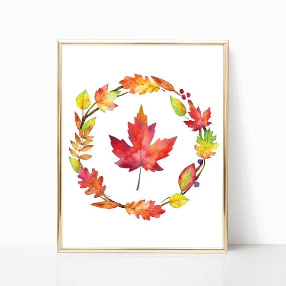 graphic regarding Printable Fall Leaves called Tumble Leaves Print · Tumble Leaf Printable · Autumn Leaves Decor · Tumble Wall Artwork · Seasonal Slide Decor · Slide Wreath Artwork · Electronic History
