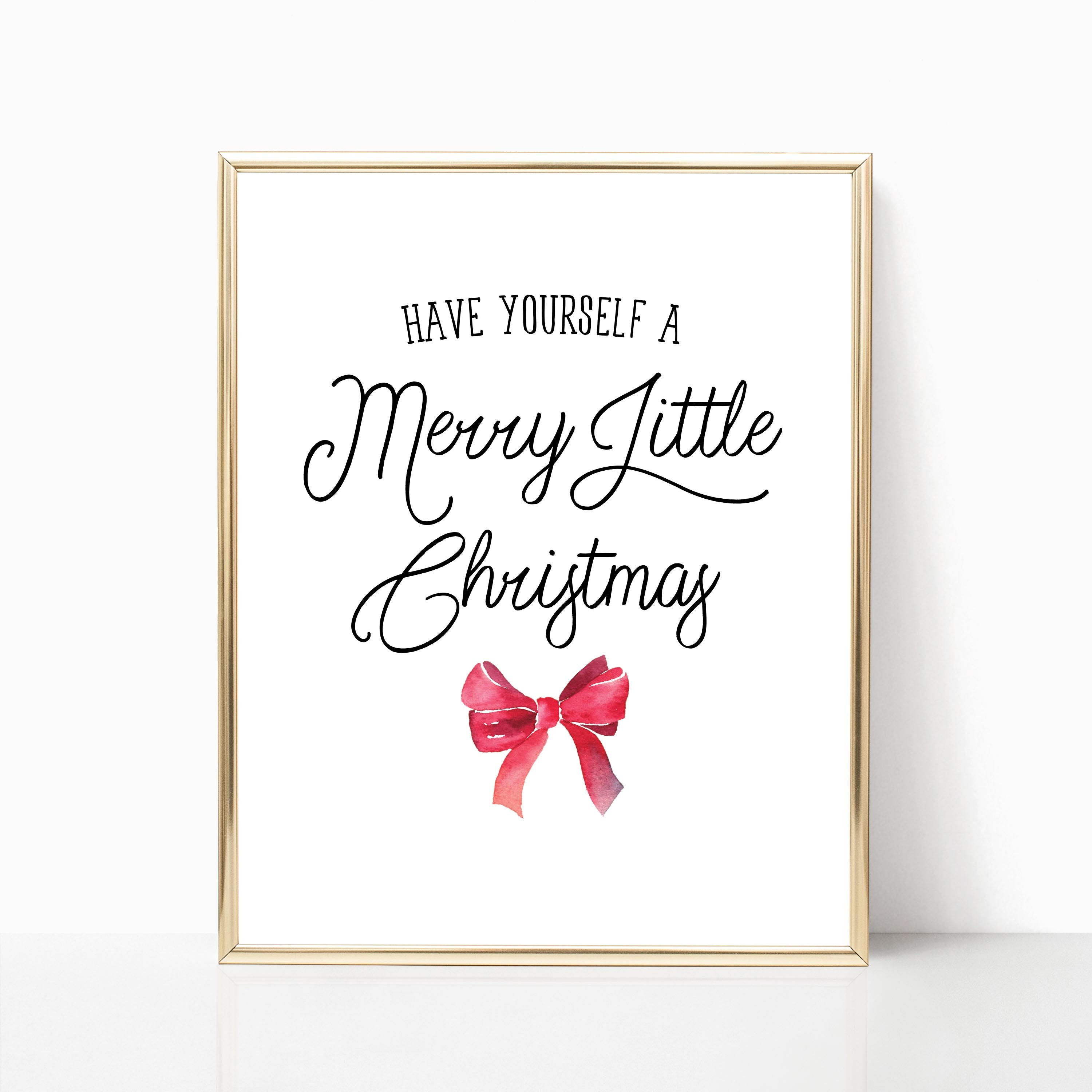 Have Yourself A Merry Little Christmas Print Christmas Song   Etsy