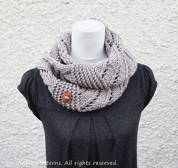 Knitting Pattern Weekender Infinity Loop Scarf Womens Scarf Etsy