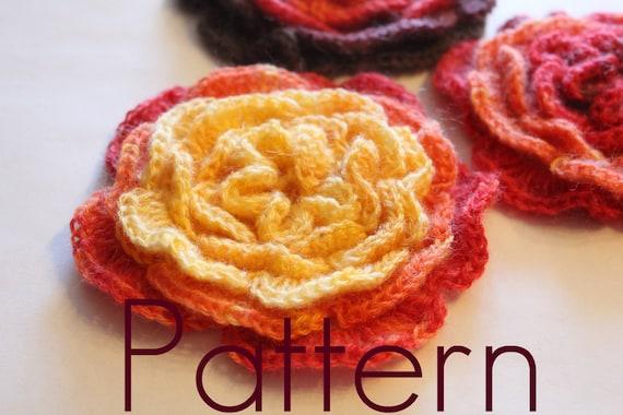 Crochet Pattern Layered Crochet Flower Listing17 Etsy
