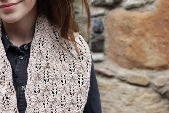 Knitting Pattern Smoothie Infinity Lace Scarf Womens Scarf Etsy