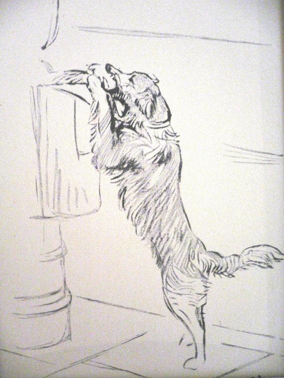 DALMATIAN TWO SITTING DOGS LUCY DAWSON DOG ART PRINT READY MOUNTED