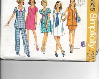 62e60bc9661f Vintage Sewing Pattern Simplicity 8855 for Maternity Pants
