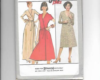 Vintage UNCUT Sewing Pattern Simplicity 8235 for Wrap Dress, 1970s, Sz 12
