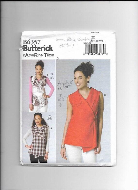 sin cortar 26 Butterick B6357 patrón misses Top Talla L - XXL 16