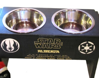 Star Wars Themed Custom Raised Pet Feeder