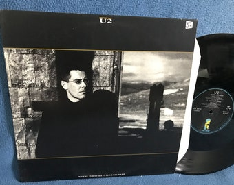 Vintage U2 With Or Without you Vinyl LP Record   Etsy