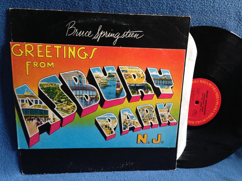 Vintage Bruce Springsteen Greetings From Asbury Park