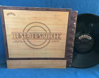 """RARE, Vintage, Jefferson Airplane - """"Long John Silver"""" Vinyl LP Record Album, Original First Press, Weed Humidor Cover, Space, Psych Rock"""