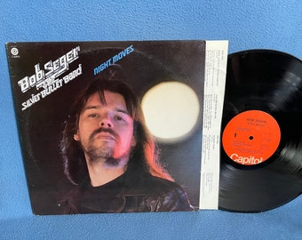 """Vintage Bob Seger & The Silver Bullet Band """"Night Moves"""" Vinyl LP Record Album, Original First Press , Rock And Roll Never Forgets, Mary Lou"""