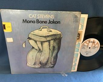 "Vintage, Cat Stevens - ""Mona Bone Jakon"", Vinyl LP, Record Album, Original First Press, Katmandu, I Think I See the Light"