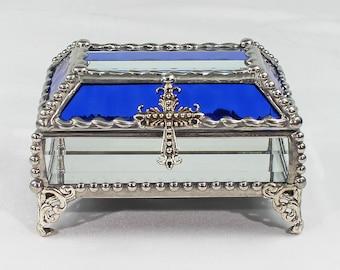 Crucifix, Stained Glass, Treasure Box, trinket box, jewelry box