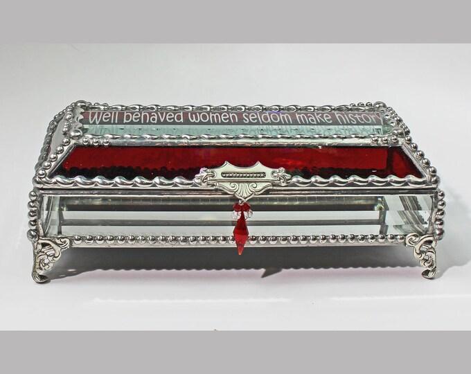 Treasure Box, Women, Stained Glass Box, Jewelry Box