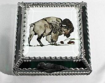 Buffalo-Bison 5X5 SILVER