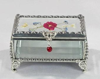 Wildflower, Treasure Box, Colorado, Flower, Pressed Flower, Keepsake, Display , Stained Glass, Butterfly, Display Box