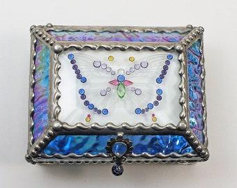 Jewel Encrusted Butterfly Treasure Box, jewelry box