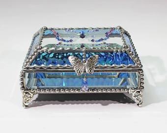 Jewel Encrusted Butterfly Treasure Box -4x5