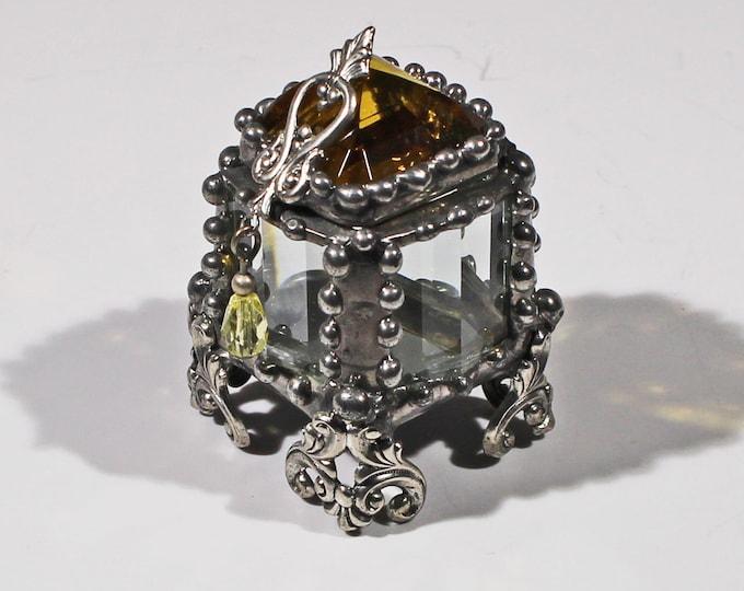 Amber Jewel Fairy Treasure Box