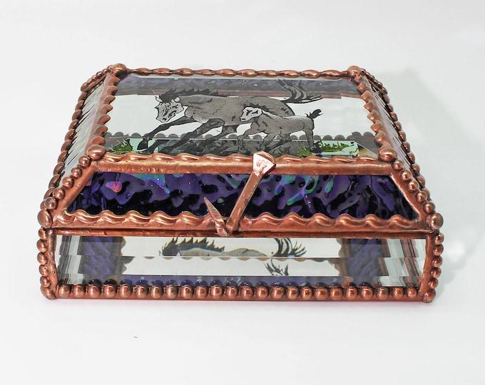 Horse Mare and Foal - Treasure Box