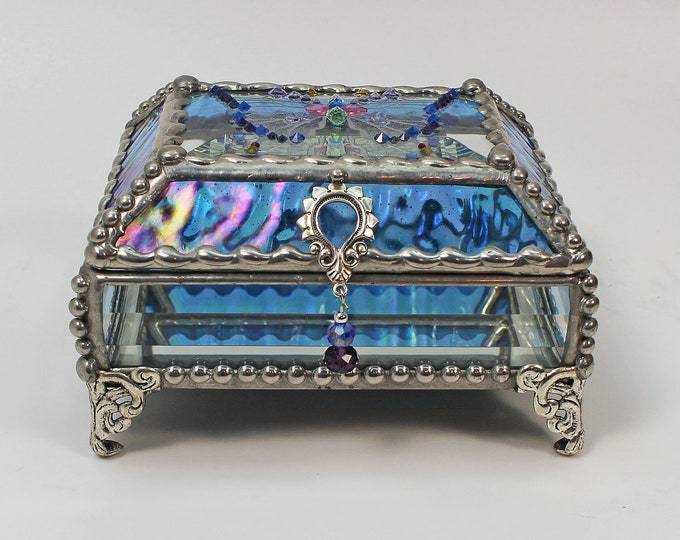 Jewel Encrusted Butterfly Treasure Box, jewelry box