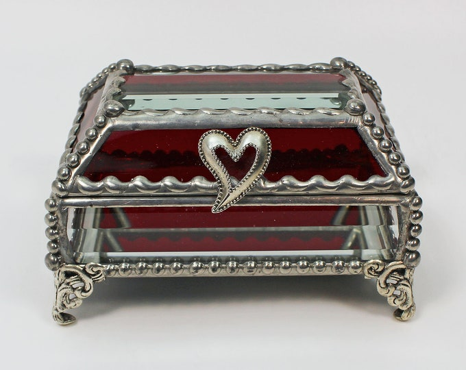 Heart Treasure Box, trinket box, jewelry box