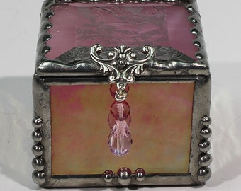 Ring Box, Keepsake Box, Treasure Box, stained glass box, stained glass