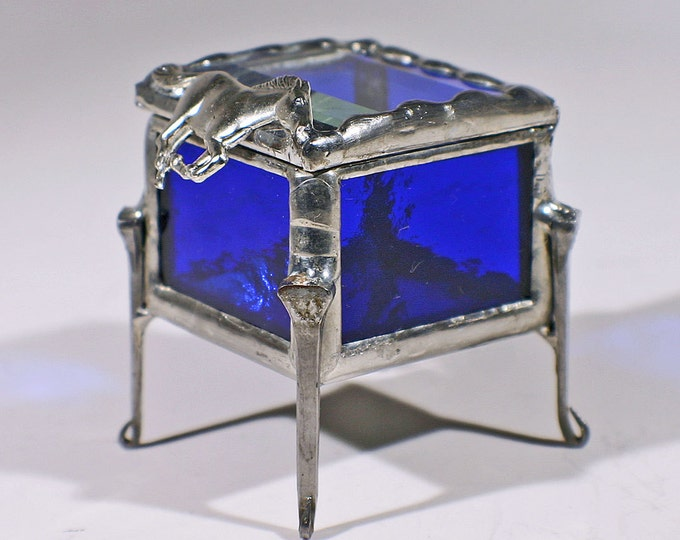 treasure box with horseshoe nails-horse