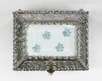 Paws, Canine, Puppies, Dogs, Jewelry Box, Faberge Style, Trinket Box