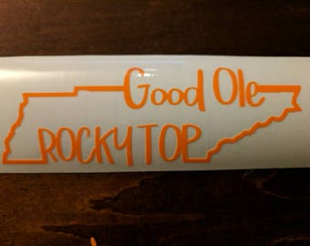 Rocky Top Window Clings
