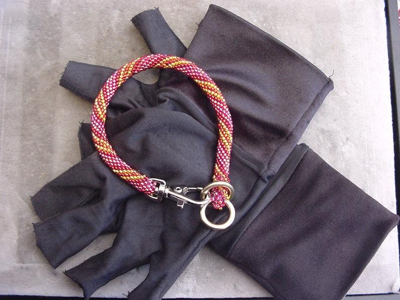 27-28 tiny beads beaded dog collar Show collar Custom collar Choose your color Slip choker collar with clasp for pets