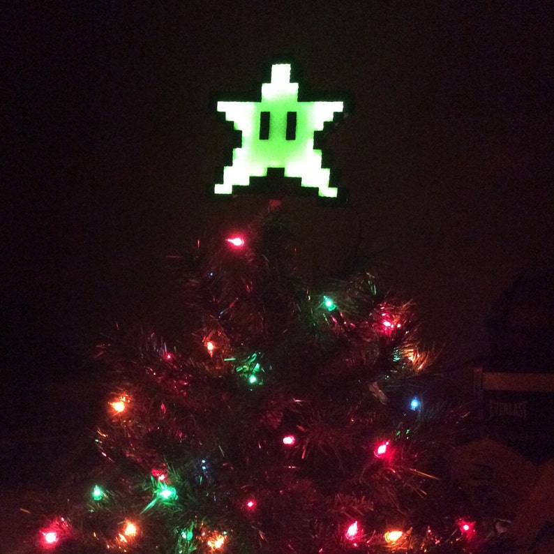 Led Christmas Tree Star Kandi Perler Topper Light Up Lights Glow Mario Gift Ornament Decoration Electric Cool Awesome