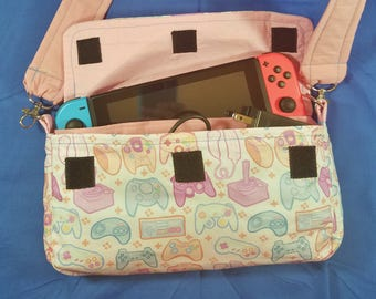 Pastel Contoller Pattern Nintendo Switch Carrying Case - Made to Order