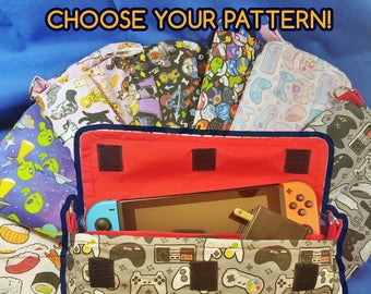 CHOOSE YOUR PATTERN Nintendo Switch Carrying Case - Made to Order