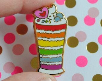 Gay Parfait - Pastry Pride Enamel Pins - Gay Pride Pin