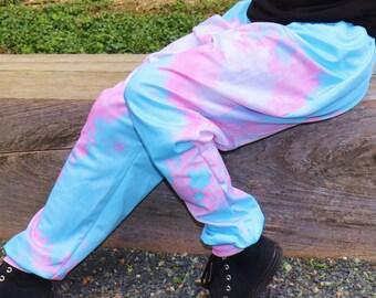 Pixel Trans Pride Pajama Pants! Stretchy & Comfy Jogger Style Pants with Drawstring and Pockets - Plus Size Pajama Pants - Pride Pants