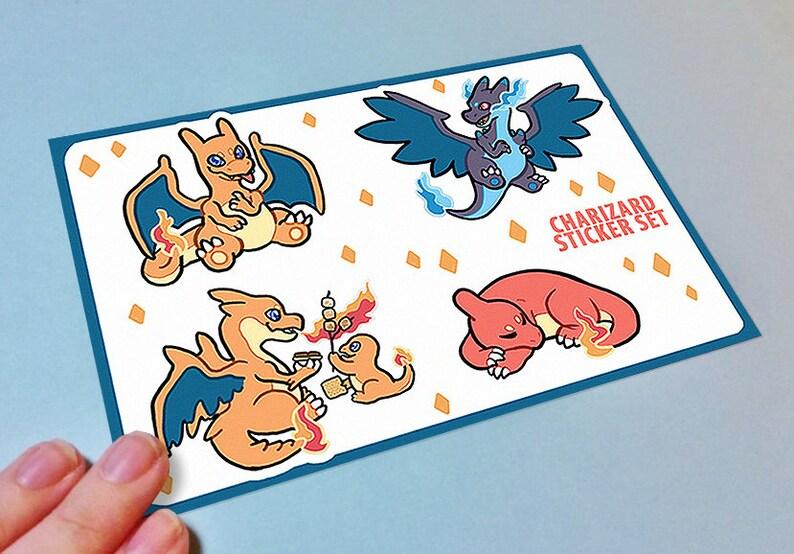Pokemon Charizard Sticker Sheets image 0